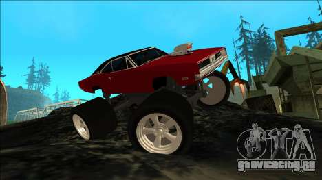 Dodge Charger 1969 Monster Edition для GTA San Andreas вид изнутри