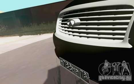 Infiniti QX80 для GTA San Andreas вид сзади