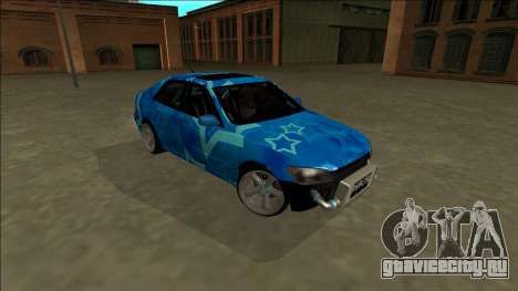 Lexus IS300 Drift Blue Star для GTA San Andreas вид сбоку