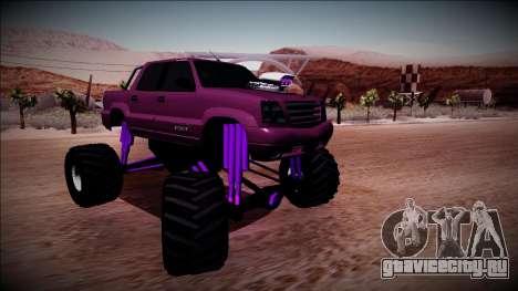 GTA 4 Cavalcade FXT Monster Truck для GTA San Andreas вид справа
