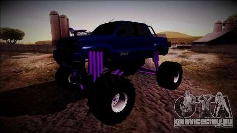 GTA 4 Cavalcade FXT Monster Truck для GTA San Andreas вид сзади