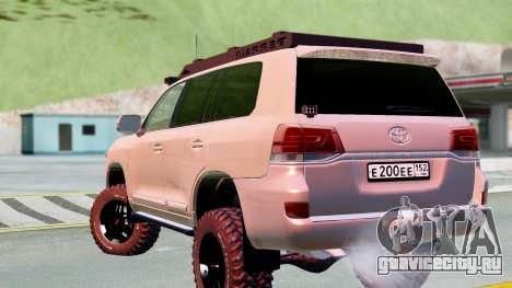 Toyota Land Cruiser 200 2016 для GTA San Andreas вид слева