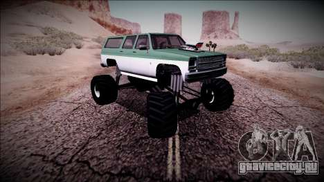 Rancher XL Monster Truck для GTA San Andreas вид сверху