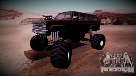 Rancher XL Monster Truck для GTA San Andreas вид сзади