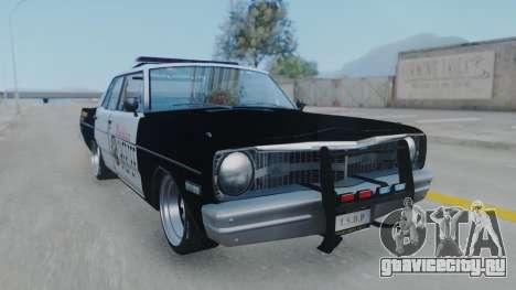 Dodge Dart 1975 v3 Police для GTA San Andreas вид сзади слева