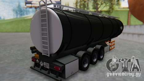 Trailer Cistern для GTA San Andreas вид слева