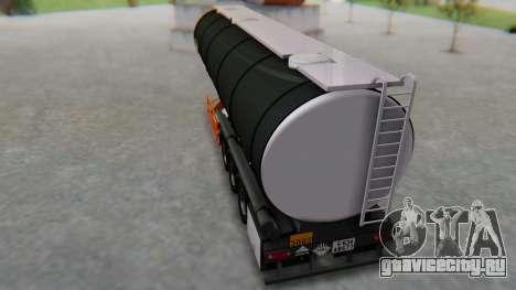 Trailer Cistern для GTA San Andreas вид сзади слева