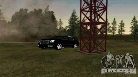GMC Yukon 2015 для GTA San Andreas вид сзади
