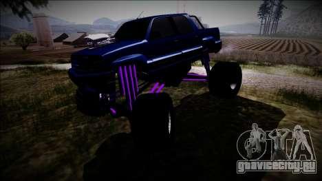 GTA 4 Cavalcade FXT Monster Truck для GTA San Andreas вид изнутри