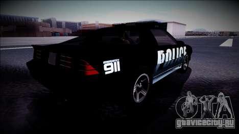 Chevrolet Camaro 1990 IROC-Z Police Interceptor для GTA San Andreas вид сзади