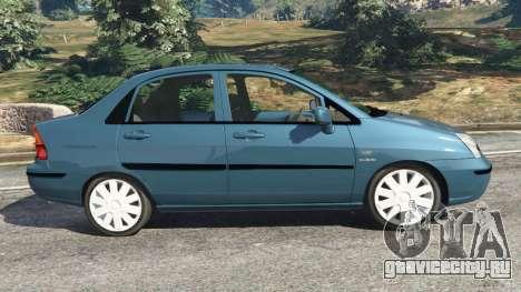 Suzuki Liana для GTA 5 вид слева
