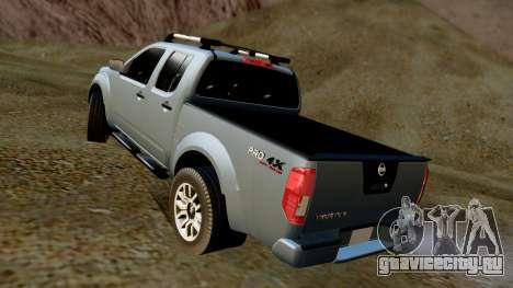 Nissan Frontier PRO-4X 2014 для GTA San Andreas вид сзади слева