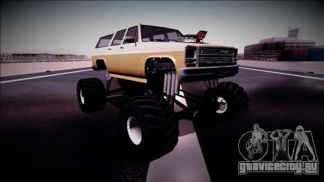Rancher XL Monster Truck для GTA San Andreas вид слева