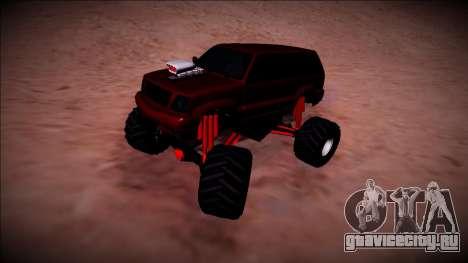 GTA 4 Cavalcade Monster Truck для GTA San Andreas вид сзади