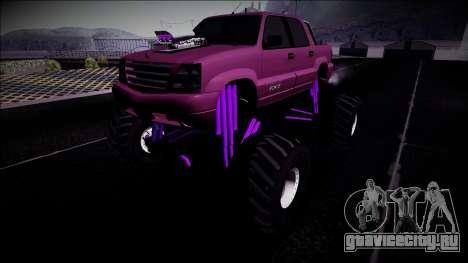 GTA 4 Cavalcade FXT Monster Truck для GTA San Andreas