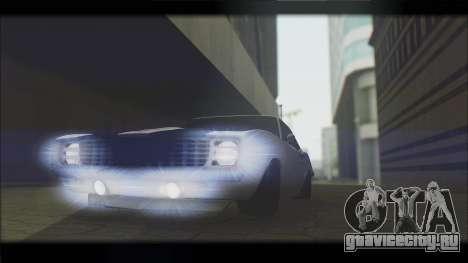Chevrolet Camaro Z28 1969 Special Edition для GTA San Andreas вид изнутри