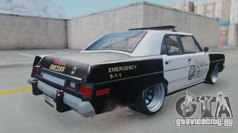 Dodge Dart 1975 v3 Police для GTA San Andreas вид слева