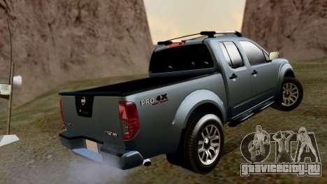 Nissan Frontier PRO-4X 2014 для GTA San Andreas вид слева