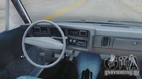 Dodge Dart 1975 v3 Police для GTA San Andreas вид изнутри