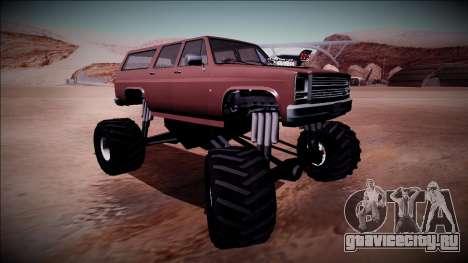Rancher XL Monster Truck для GTA San Andreas вид изнутри