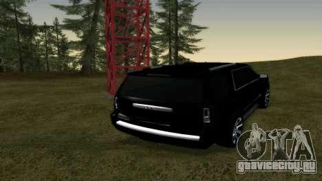 GMC Yukon 2015 для GTA San Andreas вид сзади слева