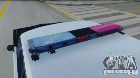 Dodge Dart 1975 v3 Police для GTA San Andreas вид сзади