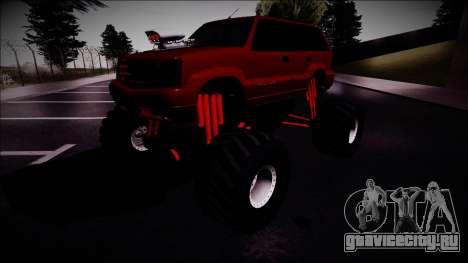 GTA 4 Cavalcade Monster Truck для GTA San Andreas вид справа