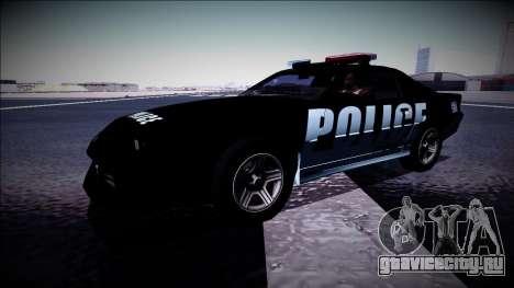 Chevrolet Camaro 1990 IROC-Z Police Interceptor для GTA San Andreas вид сбоку