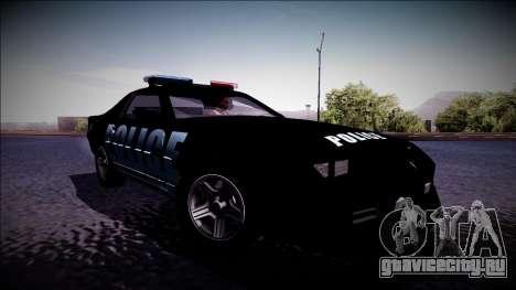 Chevrolet Camaro 1990 IROC-Z Police Interceptor для GTA San Andreas
