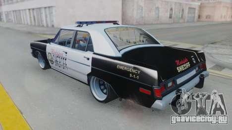 Dodge Dart 1975 v3 Police для GTA San Andreas вид справа