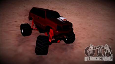 GTA 4 Cavalcade Monster Truck для GTA San Andreas вид изнутри