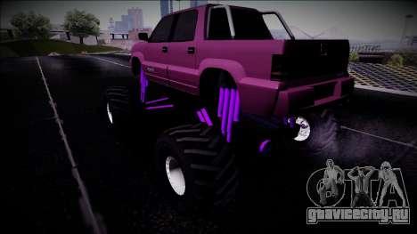 GTA 4 Cavalcade FXT Monster Truck для GTA San Andreas вид слева