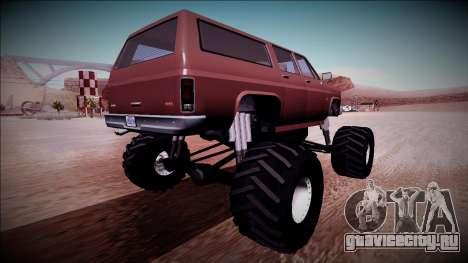 Rancher XL Monster Truck для GTA San Andreas вид справа