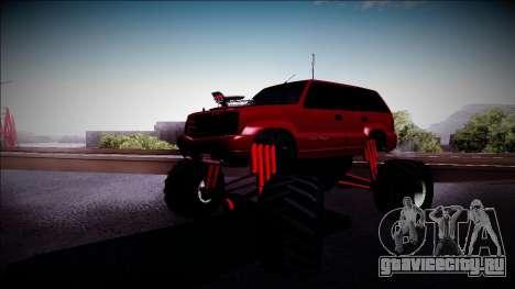 GTA 4 Cavalcade Monster Truck для GTA San Andreas вид слева
