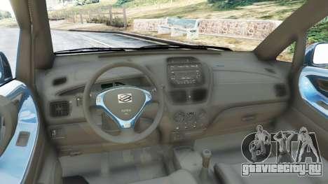 Suzuki Liana для GTA 5 вид сзади справа