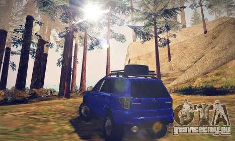 Subaru Forester 2008 Off Road для GTA San Andreas вид сзади слева