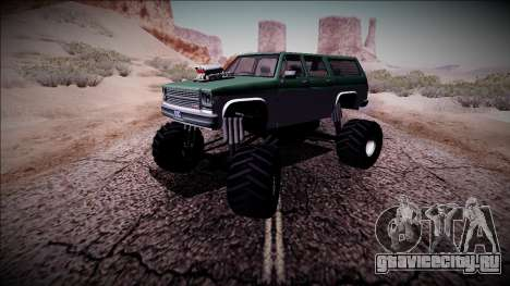 Rancher XL Monster Truck для GTA San Andreas вид сбоку