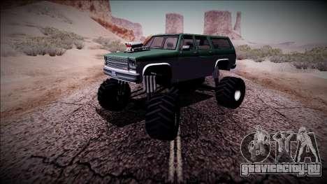 Rancher XL Monster Truck для GTA San Andreas вид сбоку