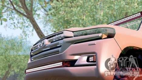 Toyota Land Cruiser 200 2016 для GTA San Andreas вид справа