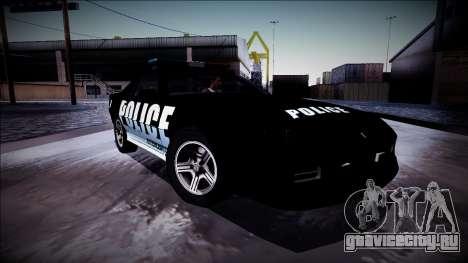 Chevrolet Camaro 1990 IROC-Z Police Interceptor для GTA San Andreas вид снизу