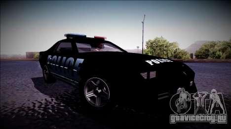 Chevrolet Camaro 1990 IROC-Z Police Interceptor для GTA San Andreas вид сзади слева