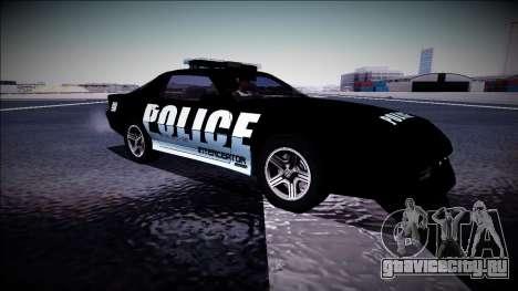 Chevrolet Camaro 1990 IROC-Z Police Interceptor для GTA San Andreas вид изнутри