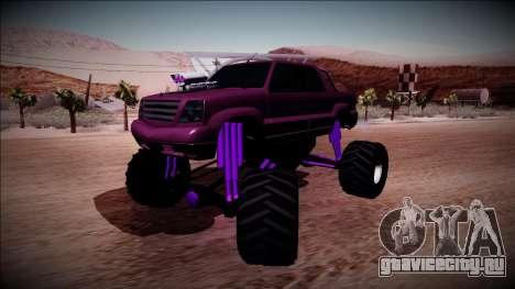 GTA 4 Cavalcade FXT Monster Truck для GTA San Andreas вид сзади слева