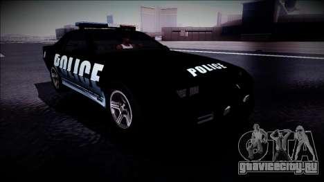 Chevrolet Camaro 1990 IROC-Z Police Interceptor для GTA San Andreas вид справа