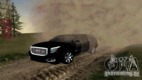 GMC Yukon 2015 для GTA San Andreas вид слева