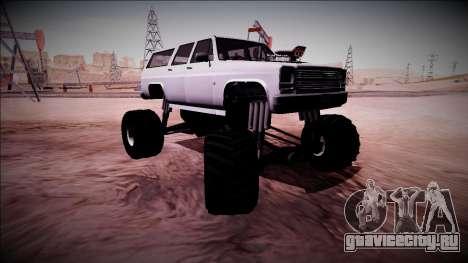 Rancher XL Monster Truck для GTA San Andreas вид снизу