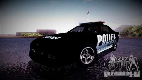 Chevrolet Camaro 1990 IROC-Z Police Interceptor для GTA San Andreas вид слева