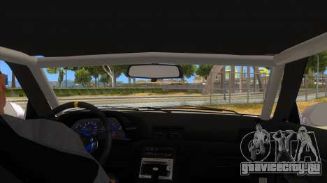 Nissan Skyline R32 Drag для GTA San Andreas вид изнутри
