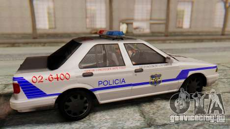 Nissan Sentra B13 2004 Patrulla Salvadoreña v1.0 для GTA San Andreas вид справа