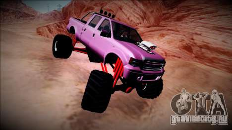 GTA 5 Vapid Sadler Monster Truck для GTA San Andreas вид сзади